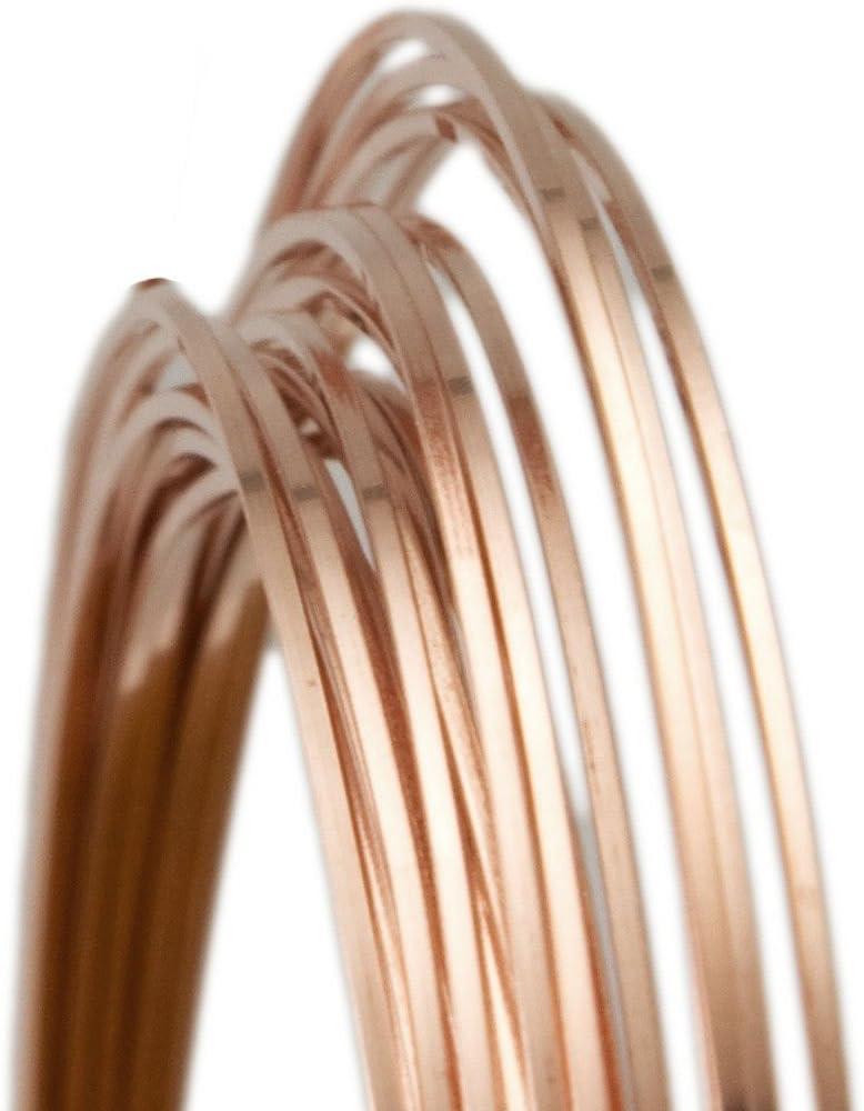 18 Gauge Square Half Hard Mesa Mall 14 Over item handling 20 Filled Rose Wire Gold 25FT -