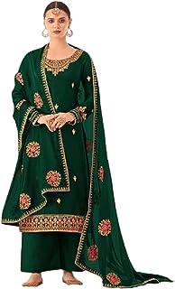 أزياء هندية خضراء للمرأة الاحتفالية ارتداء Tusser الحرير مستقيم Kameez باكستاني فستان فاخر 6087