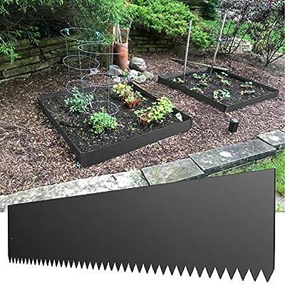LOVSHARE Steel Landscape Edging 40 x 6 Inch Steel Edging for Landscaping 6pcs Steel Garden Edging Border Landscape Edging Steel Lawn Edging Garden Edging Garden Border Edging Metal Edging