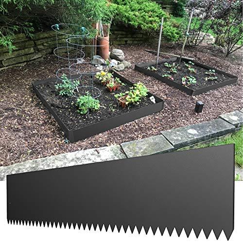 LOVSHARE Steel Landscape Edging 40 x 8 Inch Steel Edging for Landscaping 4pcs Steel Garden Edging Border Landscape Edging Steel Lawn Edging Garden Edging Garden Border Edging Metal Edging