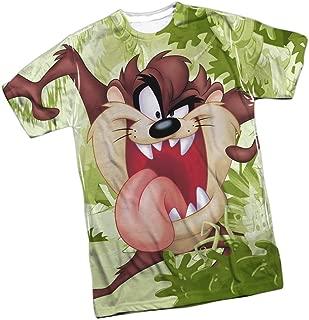 Looney Tunes Tasmanian Devil Front/Back Print Sports Fabric T-Shirt