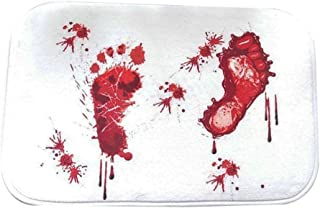 bjduck99 Bloody Footprint Non-slip Bath Mat Rug Halloween Decoration 15.75 x 23.62 inch