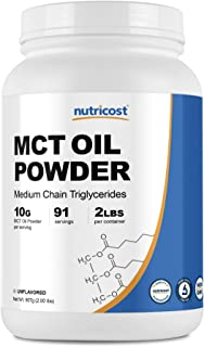 Nutricost MCT Oil Powder 2LBS (32oz) - Great for Ketosis and Ketogenic Diets - Zero Net Carbs - Non-GMO + Gluten Free