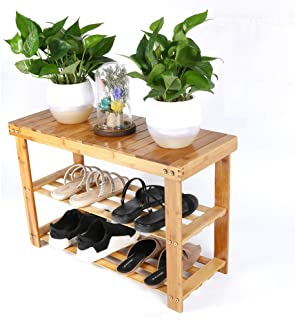 Bamboo Stool Shoe wear shoe bench Cabinet Shoe Rack Garden Foot Stool minimalist Storage Stool