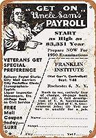 1949アンクルサムの給与に乗るコレクティブルウォールアート
