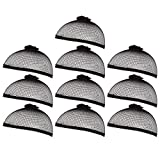 Pack of 10 Mesh Wig Caps - Stocking Cap - Wig Liner - Mesh Dome - One Size Fits Most, Black
