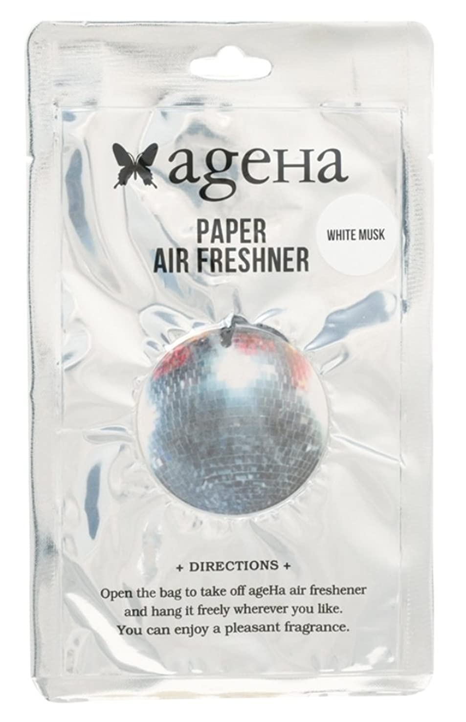 スタック不平を言うヘビageha エアーフレッシュナー ミラーボール 吊り下げ ホワイトムスクの香り OA-AGE-3-4