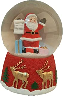 Lightahead Santa Checking his List Christmas Musical Snow Globe Water Ball with Music Playing (Santa)