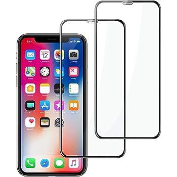 Gaishi Protector de Pantalla Compatible con iPhone 11 Pro/X/XS 5.8'', 2-Pack, Cristal Templado, Anti-Rasguño, Protección Completa de la Pantalla,Negro