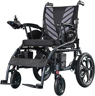 AOLI Silla de ruedas eléctrica plegable ligera, plegable de lujo plegable Silla de ruedas compacta de ayuda para la movilidad, batería de litio de 12 Ah, campo de práctica más largo Adultos Silla de