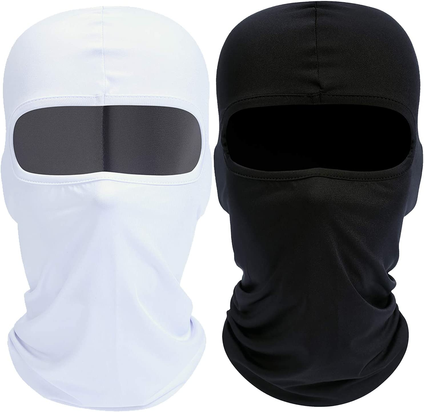 Your Choice Balaclava Ski Face Mask Cold Weather, Set of 2 Black and White