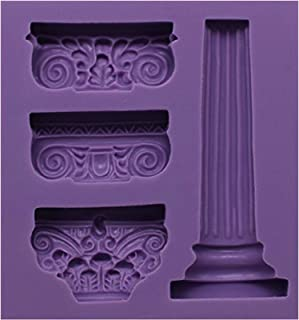 Funshowcase Ancient Greek Pillars Fondant Candy Mold for Sugarcraft, Cake Decoration, Cupcake Topper, Chocolate, Pastry, Polymer Clay, Soap Making, Epoxy Resin, Crafting Projects