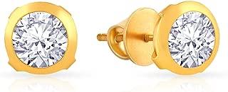 Malabar Gold and Diamonds 22KT Yellow Gold Hoop Earrings for Women