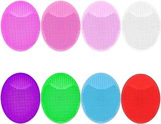 falllea 16 Piezas Cepillo de Limpieza Facial de Silicona Limpiador de Piel Manual Antideslizante Exfoliator Facial Suave C...