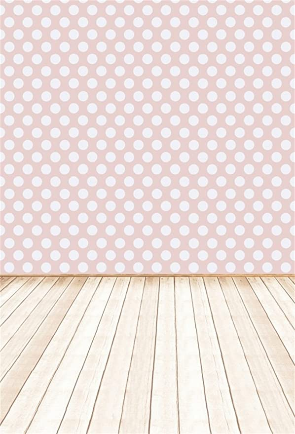 Checkered Striped Tartan Background with Daisy Petals Pastel Style Print Background for Photography Kids Adult Photo Booth Video Shoot Vinyl Studio Props Pale Pink 8x10 FT Photography Backdrop