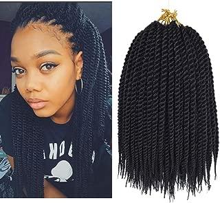 Refined Hair 12Inch 22Roots Senegalese Twist Hair Crochet Braids Ombre Kanekalon Synthetic Crochet Braids Braiding Hair Extensions 7Packs/lot (1B)