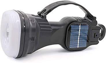 XYIDAI Searchlight,Emergency Light Solar Super Bright LED Searchlight Outdoor Hunting Handheld Portable Spotlight Lantern ...