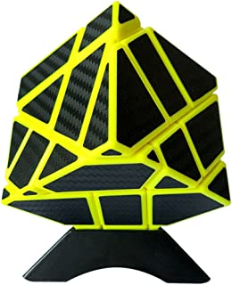 Ghost Cube 3x3, Twister.CK Magic Newest Ghost Speed Cube 3x3 with Carbon Fiber Sticker Intelligence Puzzles, Ultimate Ideal Christmas Birthday Party Gifts for Brain Teasers of All Ages (yellow)