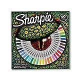 Sharpie 2061127 Pochette de 30 Marqueurs permanents, pointes fines/ultrafines Couleurs Assorties