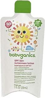 babyganics SPF 50+ sunscreen lotion