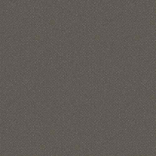 Carta da parati grigia e nera con righini beige a zig zag. Moments MO22881 in vinile effetto tessuto