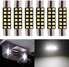 EverBrightt 31MM T6 Festoon DE3022 LED Bulb Interior Vanity Mirror Sun Visor Light for Car Dome Reading Light 12V White Pa...