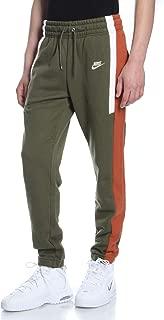 Nike Mens Sportswear Loose Fit Re-Issue Fleece Pants Green/Orange AQ2100