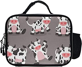 Lunch Box Cute Cartoon Cow Food Container Container for Men Women Adults, Work School Picnic BBQ Leakproof Lunch Holder Premium Totebox Portable Snack Bag
