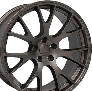 OE Wheels 20 Inch Fits Dodge Challenger Charger SRT8 Magnum Chrysler 300 SRT8 Hellcat Style DG15 20x9 Rims Bronze SET