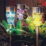 Mosaico Solar Jardín Luces, SurLight LED Solar Jardín Paisaje Luces al aire Libre Impermeable...