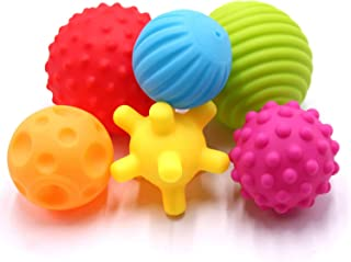 RS 6 Pack Sensory Balls Spray Water Toy for Baby and Kids, Massage Soft & Textured Balls Set Develop Baby's Tactile Senses...