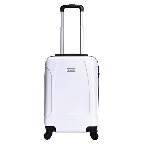513a75adf Slimbridge Alameda Super Lightweight ABS Hard Shell Travel Carry On Cabin  Hand Luggage Suitcase with 4