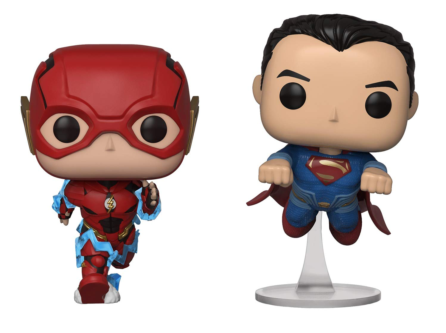 Funko - Figurine DC Justice League - 2-Pack Flash & Superman Exclu Pop 10cm - 0889698344210: Amazon.es: Juguetes y juegos