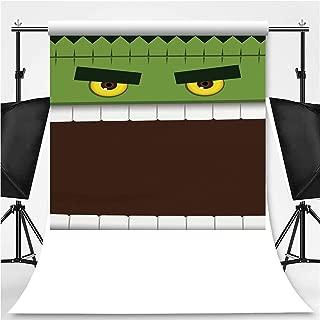 Frankenstein Face Monster Halloween Background Theme Backdrop Cartoon Backdrops Photography Backdrop,064267,10x20ft