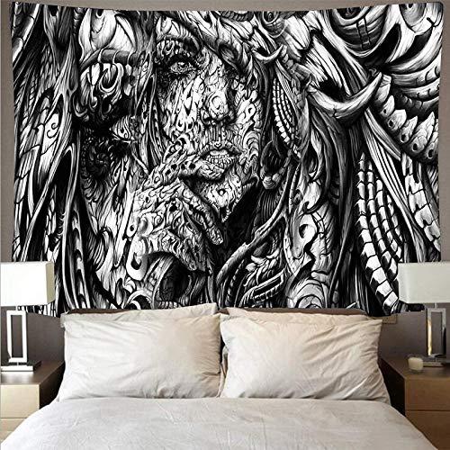 Kanagawa Wandteppich Big Wave Mandala Wandbehang Feder Teppich Wandteppich Wandverkleidung Boho Wandteppich Wandbild Hintergrund Stoff A5 180x200cm
