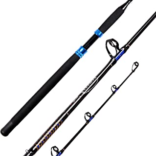 Fiblink 1-Piece Conventional Boat Rod Saltwater Offshore Graphite Fishing Rod(6-Feet, 30-50lb/50-80lb)