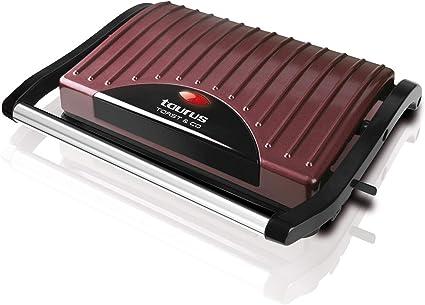 Taurus Toast Co Grill électrique 700w Sandwich Et Croque Monsieur Plaques Anti Adhésives Crochet De Fermeture Fixe Bac à Graisse Bordeaux Amazon Fr Cuisine Maison