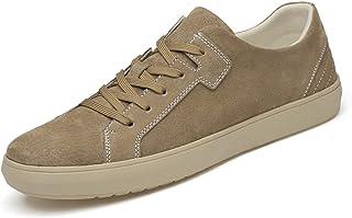 Zapatos casuales Zapatos deportivos para hombres, zapatos de punta de gamuza con cordones livianos, de puntada de fondo pl...