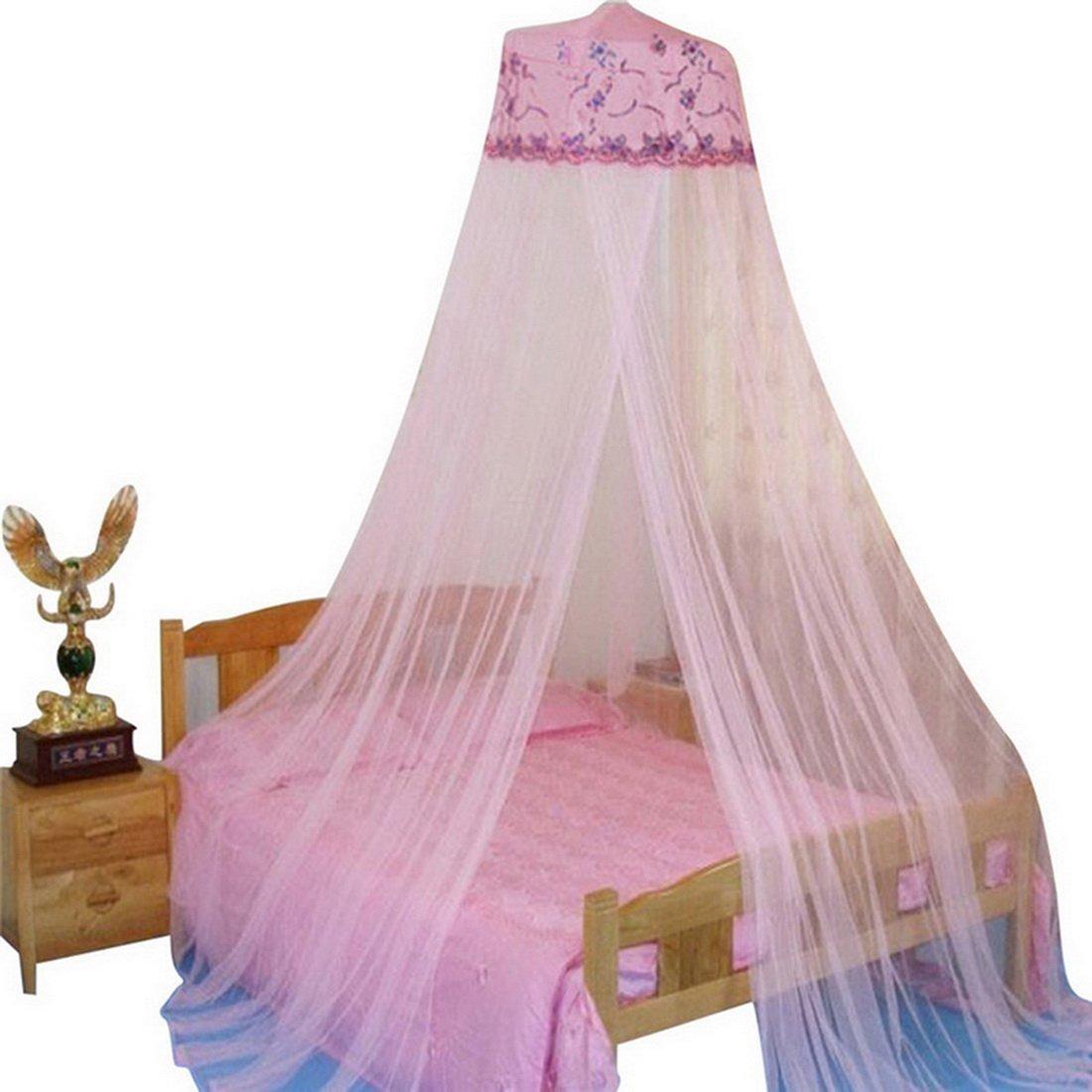 Rund Lace Moskitonetz Prinzessin Moskitonetz Zuhause Kuppel zum Aufh/ängen zur Floor-Moskitonetz Ryoizen Kuppel Bett Baldachin Mueckennetz Moskitonetz