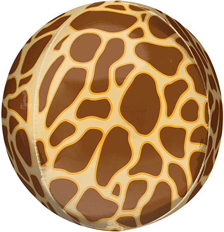 Leopard Animal Print Foil Balloon 38cm Round Leopard Pattern Balloon 15in Orbz