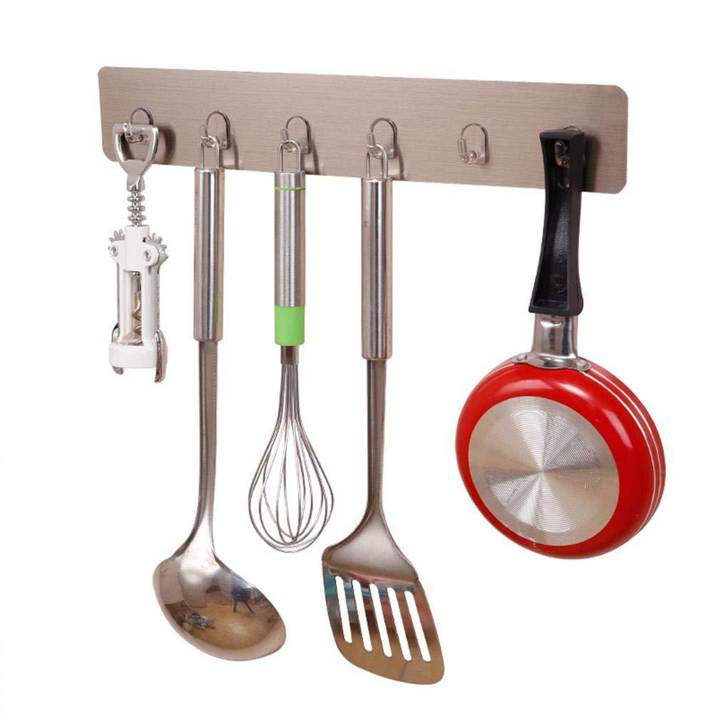 MapleHome Colgador de Utensilios de Cocina Montaje en la Pared para Colgar Olla Sartén Cuchillo Cucharón de Cocina Adecuado para Almacenamiento de Cocina: Amazon.es: Hogar