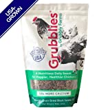 Grubblies - 1 lb. 50x More Calcium Than Mealworms, USA-Grown Non-GMO Grubs - a Daily Nutritious Snack to Treat Your Chickens - 100% Natural and Oven-Dried ...