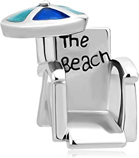 Love Travel Beach Chair Umbrella Lucky Charms Beads for Bracelets