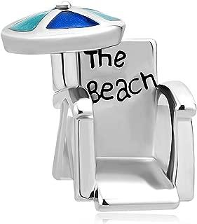 CharmSStory Love Travel Beach Chair Umbrella Lucky Charms Beads for Bracelets