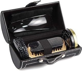 [WISH SUN] 靴磨きセット 【最新版!】 革靴 お手入れ 靴磨き コンパクトで便携帯 初心者もプロ並みに仕上がる