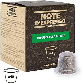 comprar comparacion Note D'Espresso - Cápsulas de menta poleo exclusivamente compatibles con cafeteras Nespresso*, 2g (caja de 40 unidades)