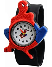 WangyueShop かわいい 子供用 腕時計 スパイダーマン柄 ウォッチ テープメジャー スタイル ストラップ 学生用 時計
