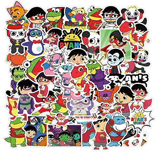 BAIMENG Cartoon Character World's Ryan Doodle Sticker Moto Valigia Notebook Impermeabile 50 Pz