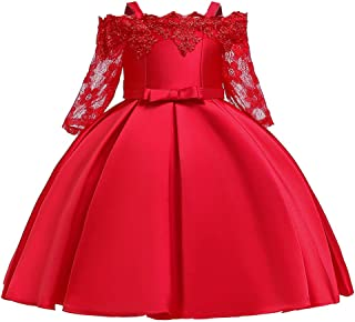 LZH Birthday Special Princess Dresses Beaded Flower Party Wedding Lace Full Dresses for Girls