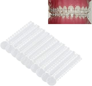 Dental Rubber Bands Teeth Brace, Vinmax Orthodontic Ties Dental Orthodontic Ligature Teeth Separate Teeth Orthodontic Treatment Elastic Braces (40PCS- Clear)
